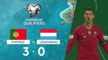 Ronaldo'dan Şık Gol ve Portekiz 3-0 Lüksemburg