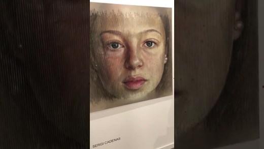 açı değiştikçe değişen tablo, açı değiştikçe değişen tablo yaşlanmak, sergi cadenas yaşlanmak tablosu, ispanyol sanatçının açıya göre dğişlen tablosu