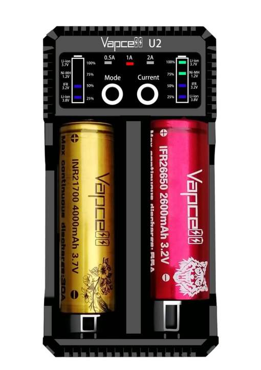 Vapcell U2 2 Amp Smart Battery Charger