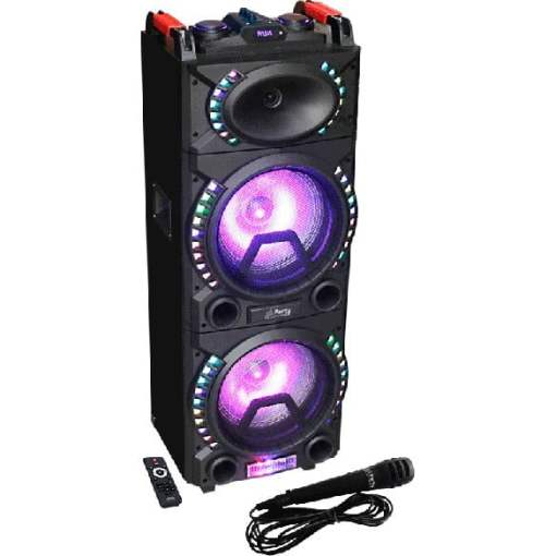 Party Light and Sound Active Bluetooth DJ Speaker Full view