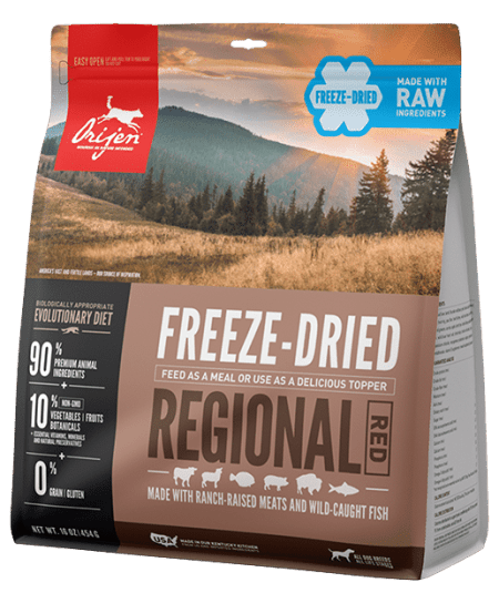 orijen regional red freezr dried food