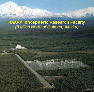 Visão aérea do HAARP no Alaska