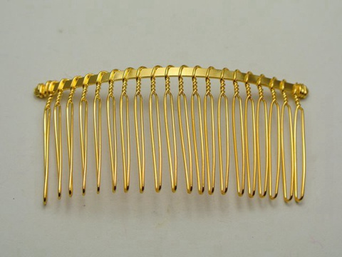 10 golden metal hair side bs clips 76x37mm for diy craft ebay