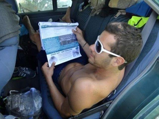 Australie- Cap Tribulation: C'est Alex qui nous guide, Yohann qui prend les photos et Mika qui conduit.