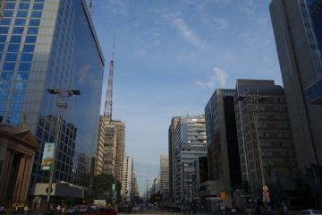 Bresil- Sao Paulo: L´Avenue Paulista, la plus belle avenue de Sao Paulo.