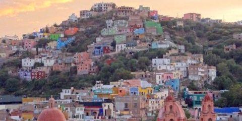 Couché de soleil sur Guanajuato au Mexique photo blog voyage tour du monde https://yoytourdumonde.fr