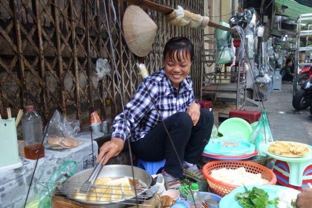 Hanoi-Vietnam: Restaurant ambulant.