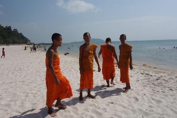 Rencontre avec homme bouddhiste