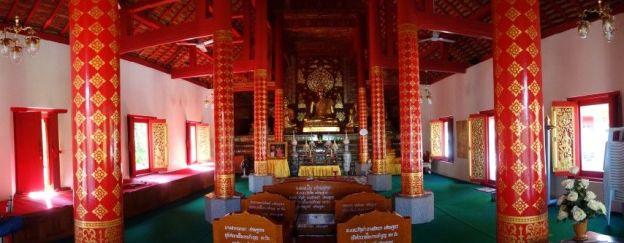 Photos prise a l'interieur d'une temple a Chiang Mai.