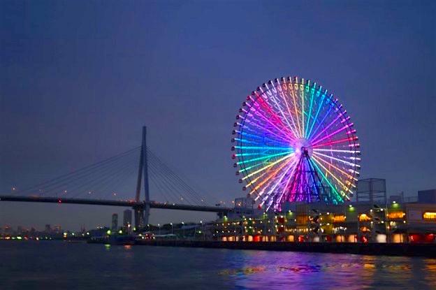 L'un des plus grandes tour au monde se trouve à Osaka, son nom est la Tempozan Ferris Whell. Photo blog voyage tour du monde http://yoytourdumonde.fr