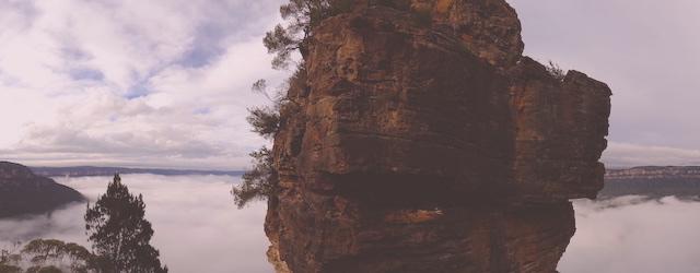 La légendes des Blues Mountains concerne les three sisters photo blog voyage tour du monde http://yoytourdumonde.fr