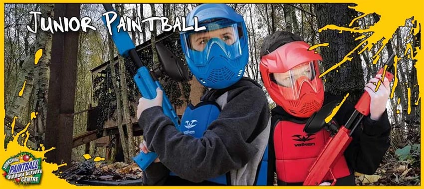 Kids Paintball at the Yorkshire Paintball Centre
