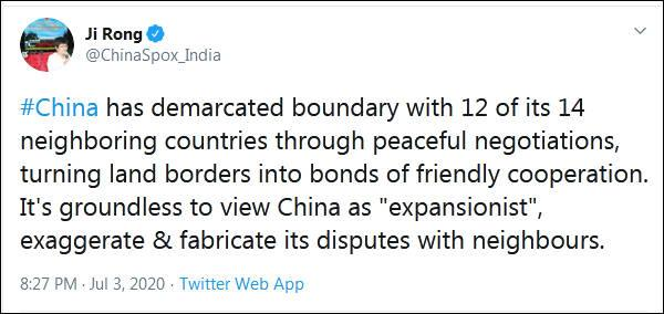 "Modi criticized""expansionism"" at the Sino-Indian border, a spokesperson of our embassy in India retaliated"