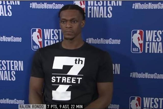 Rondo talks about body care:not like James invested millions of dollars, but he also invested millions of hours