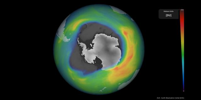 Satellite measurements show that the ozone hole over Antarctica has reached the largest area this year