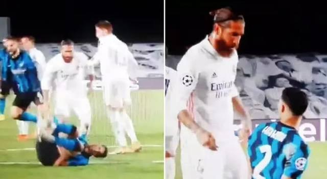 Ashraf fell to the ground and screamed, Ramos:Get up, don't scream like a mouse