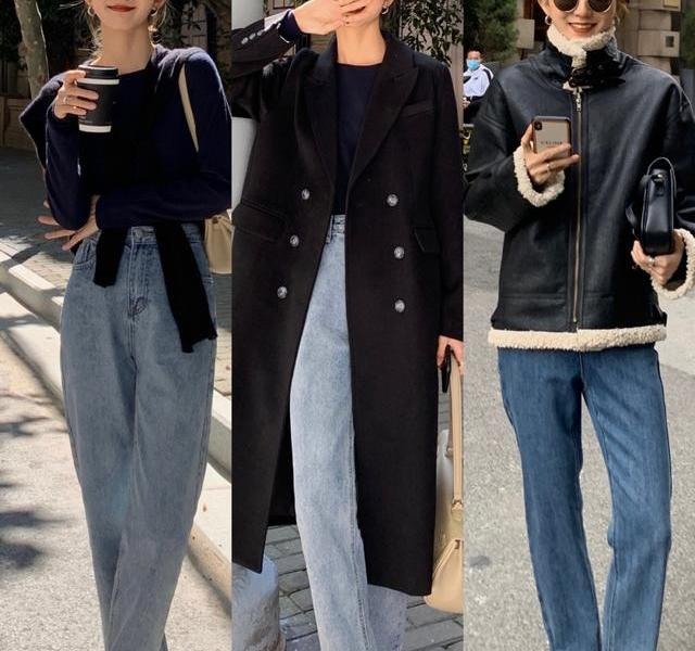 How to match jeans in autumn and winter? Fashion bloggers teach you to wear, let you easily wear fashion sense
