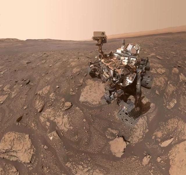 NASA shares a selfie of the Mars Curiosity rover. Mars has been drilled three holes by it