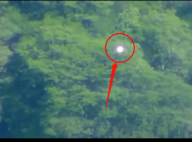 """UFO""? Strange glowing ball hovering over the Mexican forest, temporarily unable to explain"