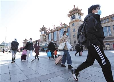 Beijing ushered in a small return peak, 16 railway stations night buses add more trains in time