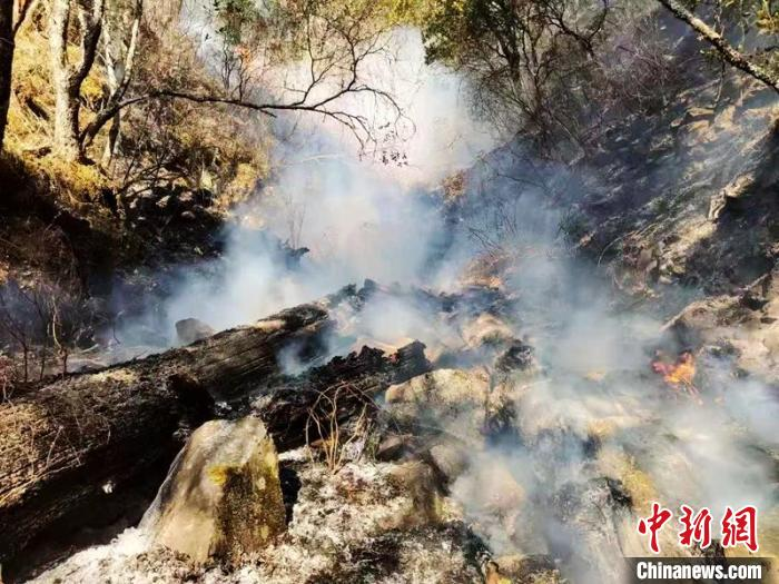 Forest fire in Jiulong County, Sichuan: Villagers sent butter tea and donated materials to support the frontline of fire fighting
