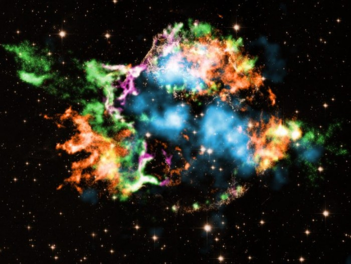 How do larger stars explode? The study said that titanium-containing bubbles caused a strong explosion