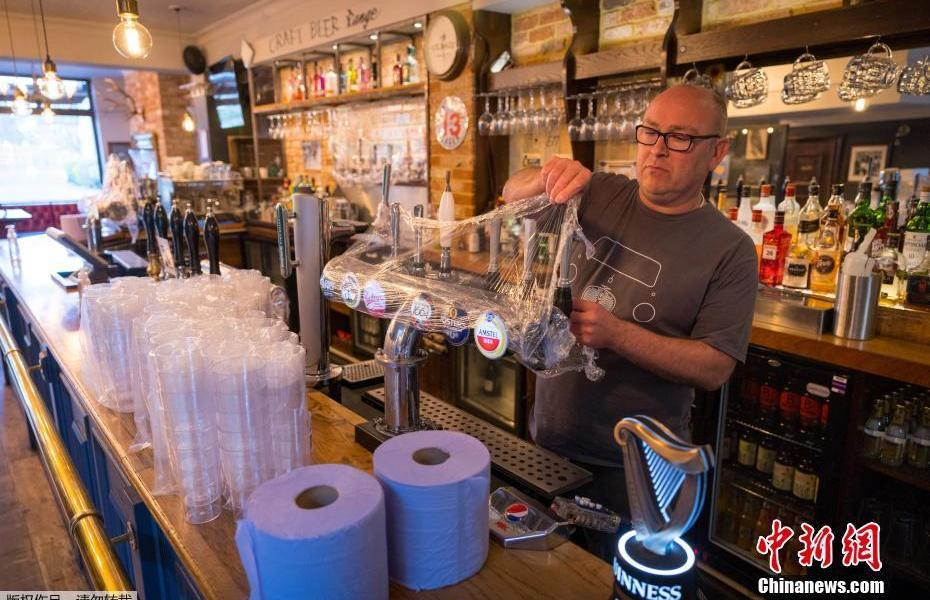Britain will enter the second stage of unblocking restaurants and bars busy set up ready to open
