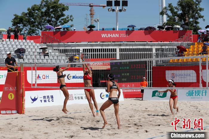 The 2021 National Sand Volleyball Tournament in Wuhan ends. The men's and women's team champions are all from Shandong