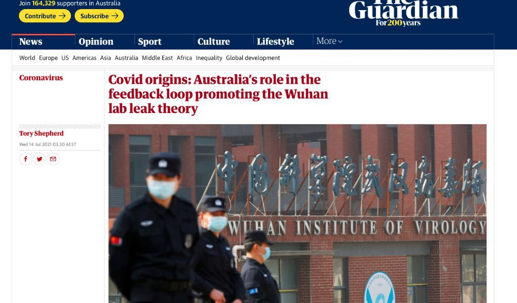 Unscrupulous Australian media reporter: colluding with the right wing of the United States, speculating on conspiracy theories to discredit China