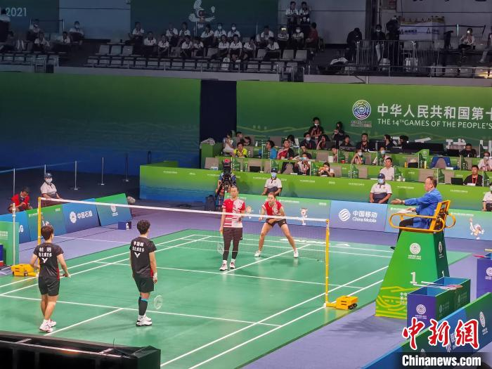 Hubei team won the gold medal in the women's badminton team in the 14th National Games