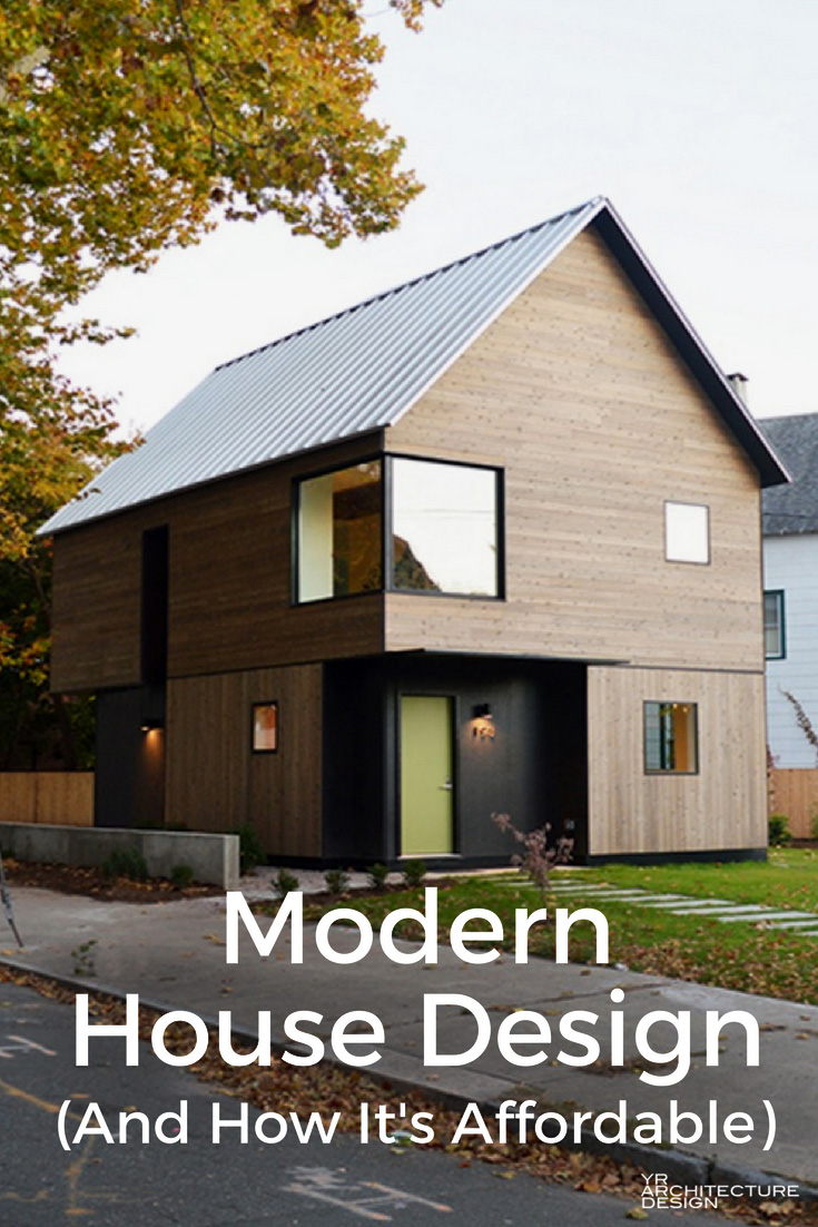 Modern house design how it can be affordable for Cheap modern home design