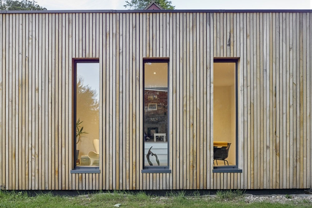[Hurdle House By Adam Knibb Architects. Photo By James Morris.] Modern  Window Without Trim Detail