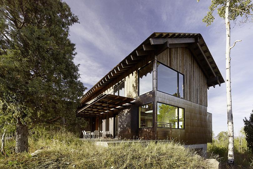 Modern Mountain House Exterior Cladding. [Aspen Creek Residence In Park  City, Utah By Carney Logan Burke Architects. Image Source: Carney Logan  Burke ...