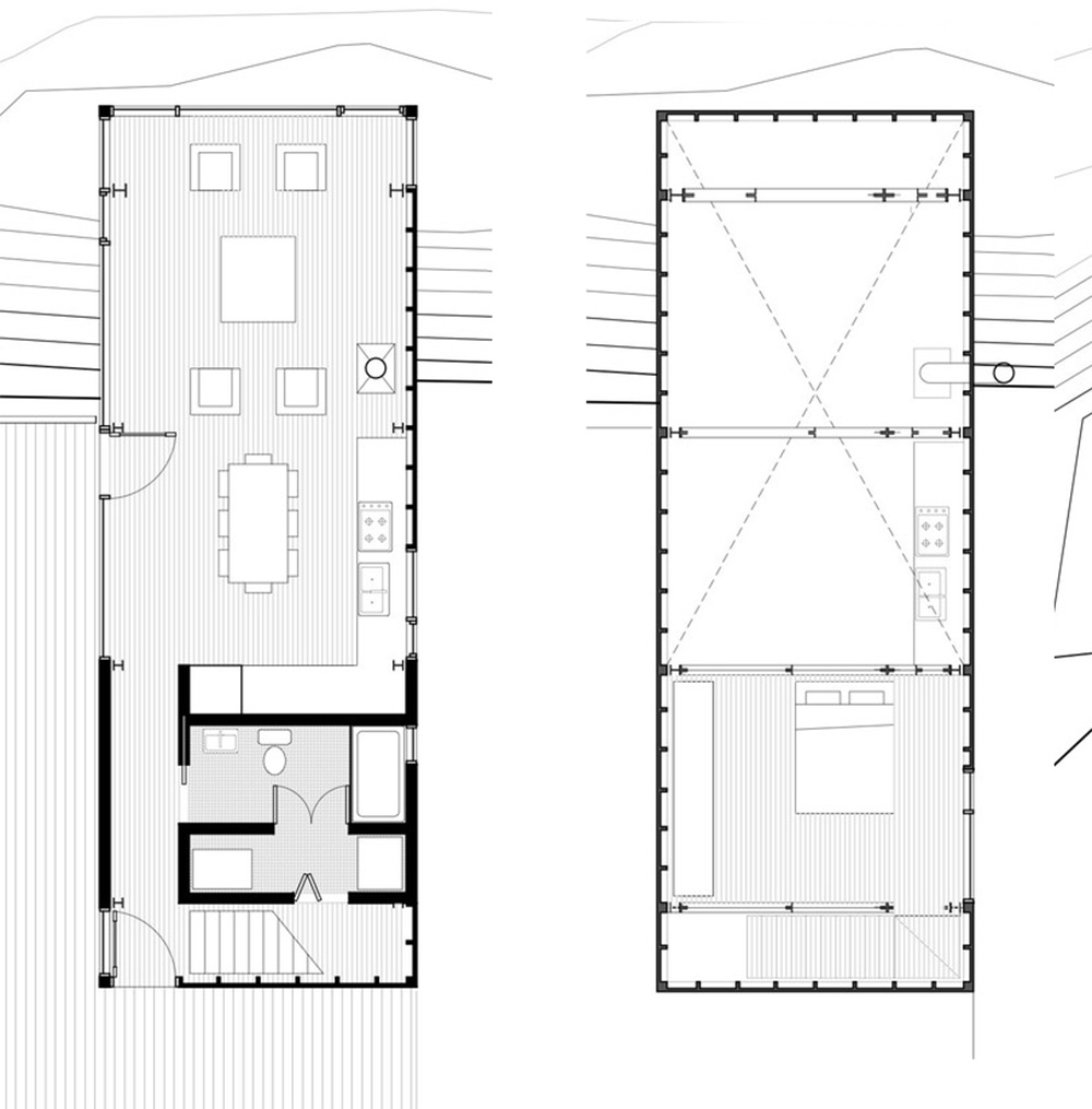 Simple plans drawing for House design minimalist modern 1 floor