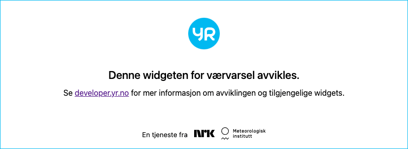 Meteogram from www.yr.no