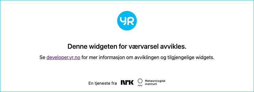 Værvarsel fra Yr levert av Meteorologisk institutt og NRK