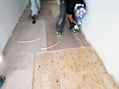 置床構造用合板捨て張り