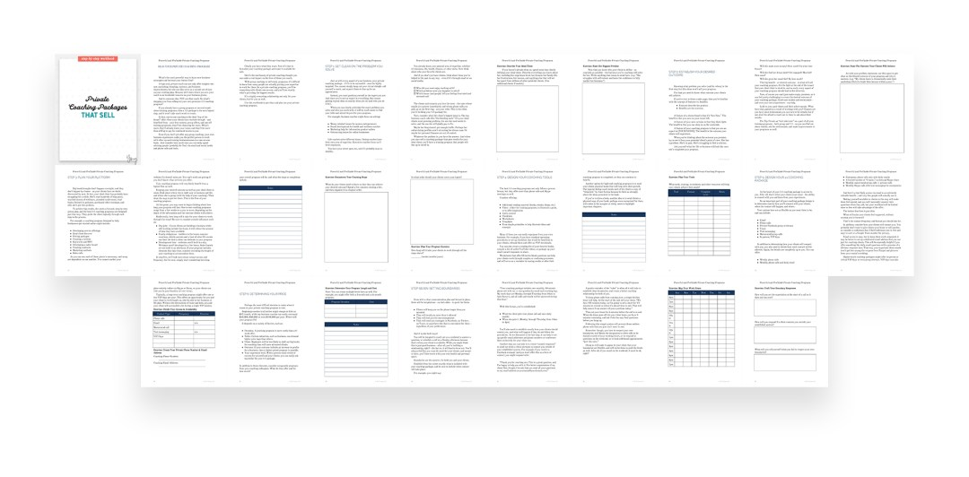 Private Coaching Packages Workbook - Preview