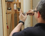 Fitting door handles, locks and latches