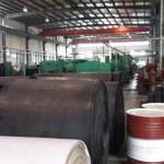 Conveyor belt in warehouse