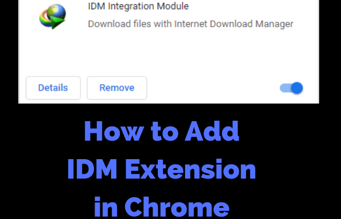 How To Add Idm In Google Chrome Extension I do not see IDM