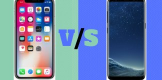 Samsung Galaxy S8 vs Apple iPhone X