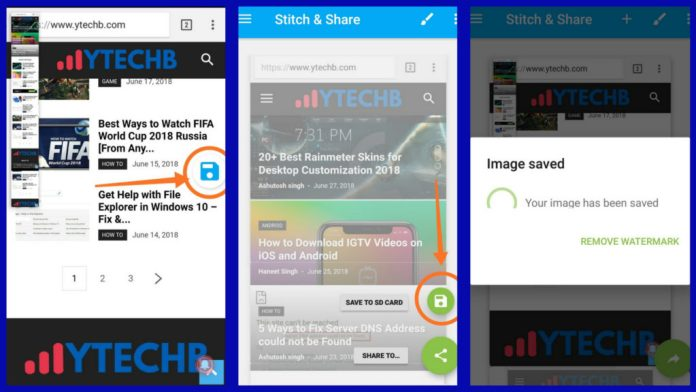 how to take long screenshot on Android