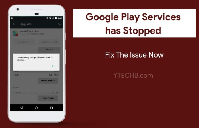 Google Play Services has Stopped