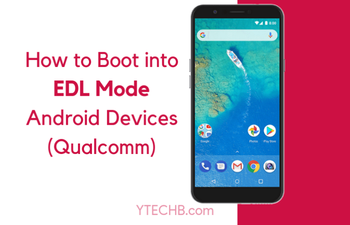 How to boot into edl mode