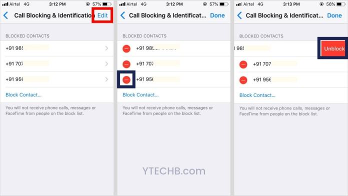 how to unblock a number on iPhone