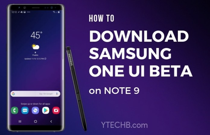 Download Samsung One UI beta for Note 9