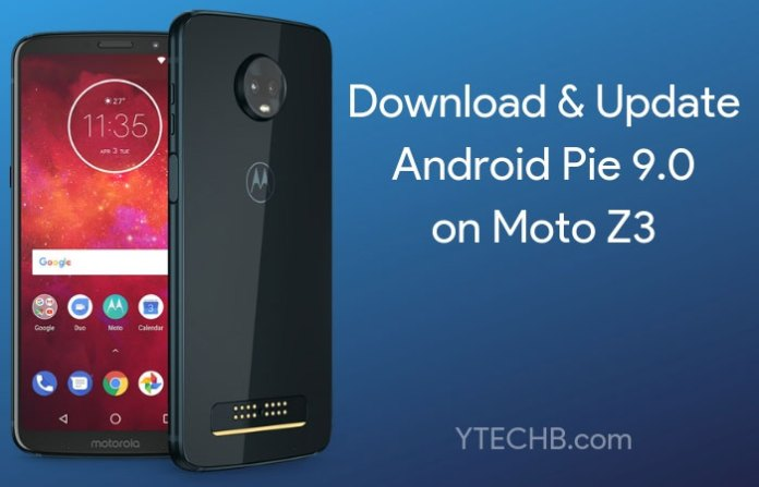 Android Pie for Moto Z3