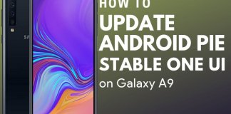 Samsung Galaxy A9 android pie update