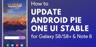 US Unlocked Samsung Galaxy S8 & Note Android Pie Update